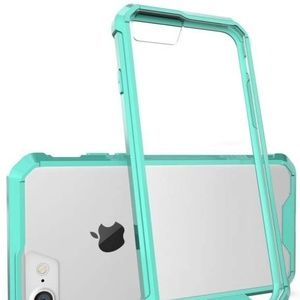 iPhone 8 7 Case Hybrid Slim Grip Clear Back Green